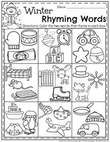 january preschool worksheets rhyming words worksheets and january. Black Bedroom Furniture Sets. Home Design Ideas