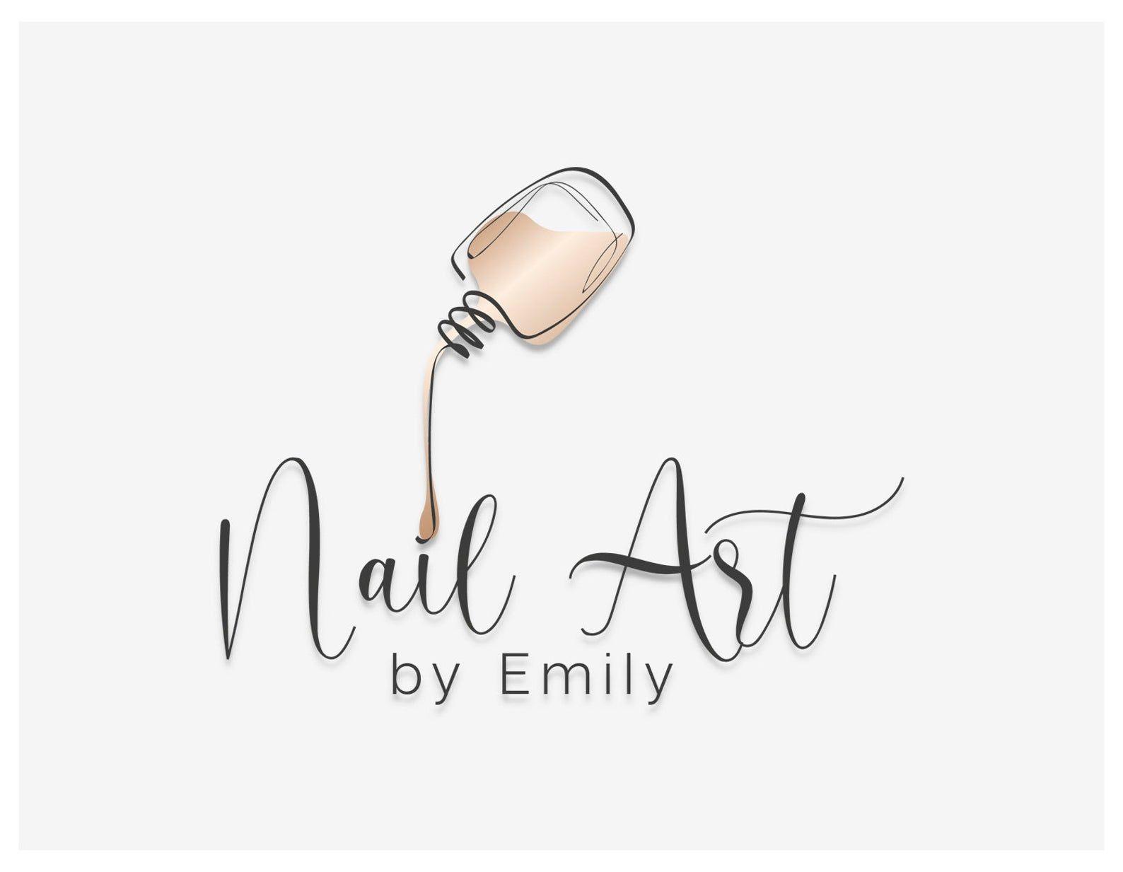 Nail Art Logo Design, Nail Studio Logo, Custom Nail Studio