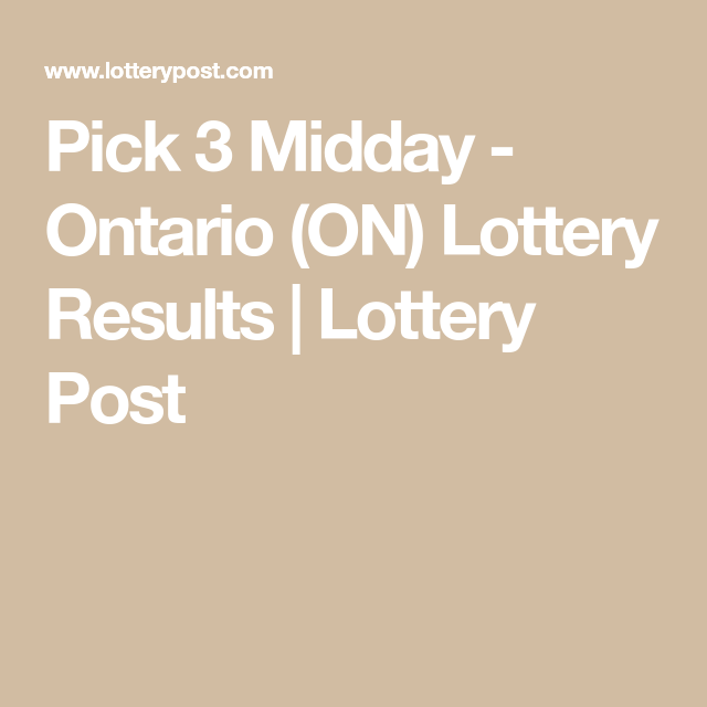 Pick 3 Midday Ontario On Lottery Results Lottery Post In 2020 Lottery Results Lottery Online Lottery Последние твиты от lottery post (@lotterypost). pinterest
