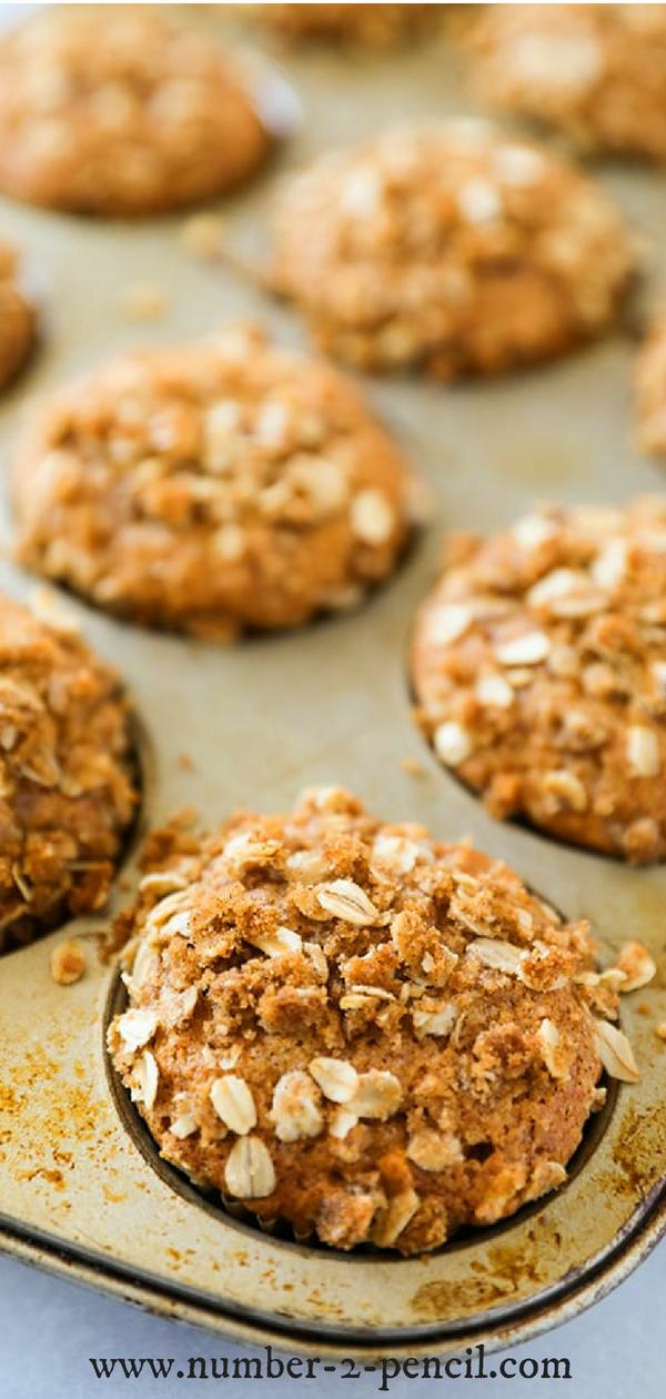 Pumpkin Apple Muffins - Pumpkin Muffins #pumpkinmuffins