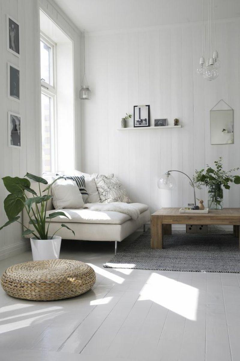 skandinavisch wohnen Einrichtungsbeispiele Wohnzimmermöbel ...