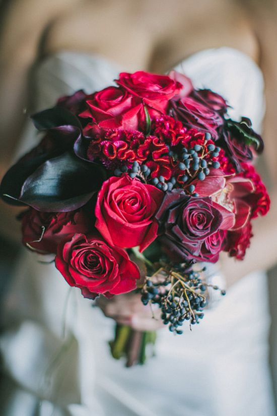 Gorgeous Ruby Red bouquet