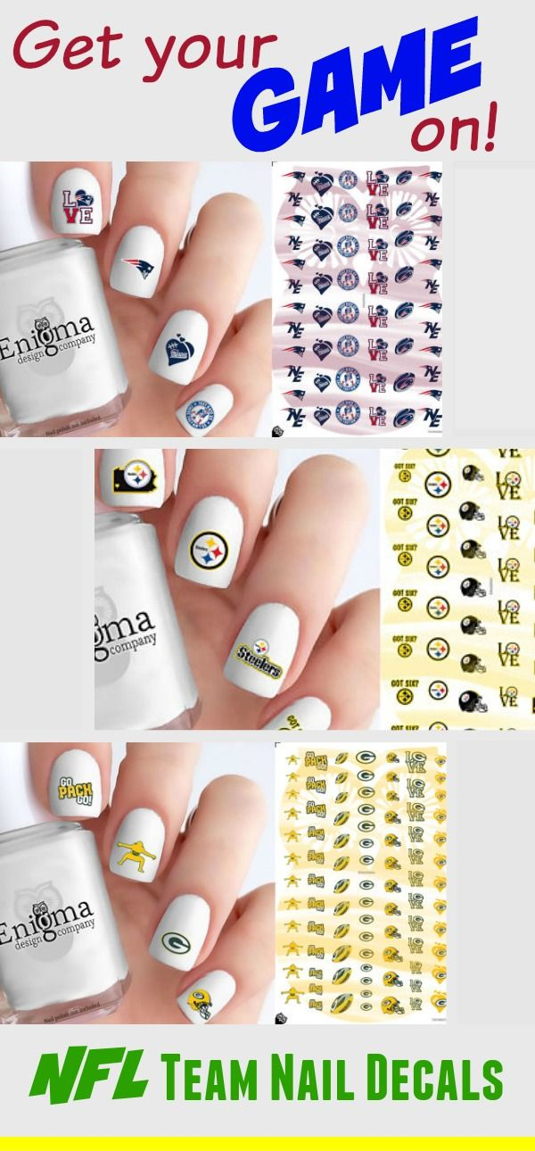 SUPERbowl Nails ~ Get your game on with NFL team nail decals ~ NFL ...