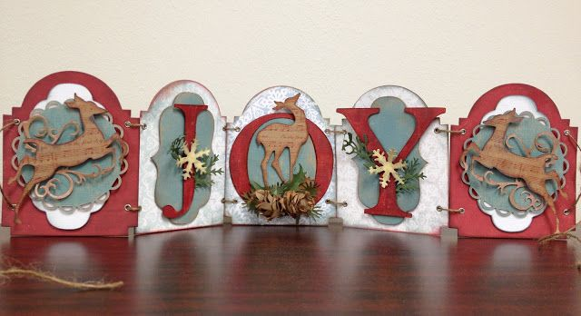Gorgeous Christmas decor by Kory K using Tim Holtz Alterations dies. Love this!