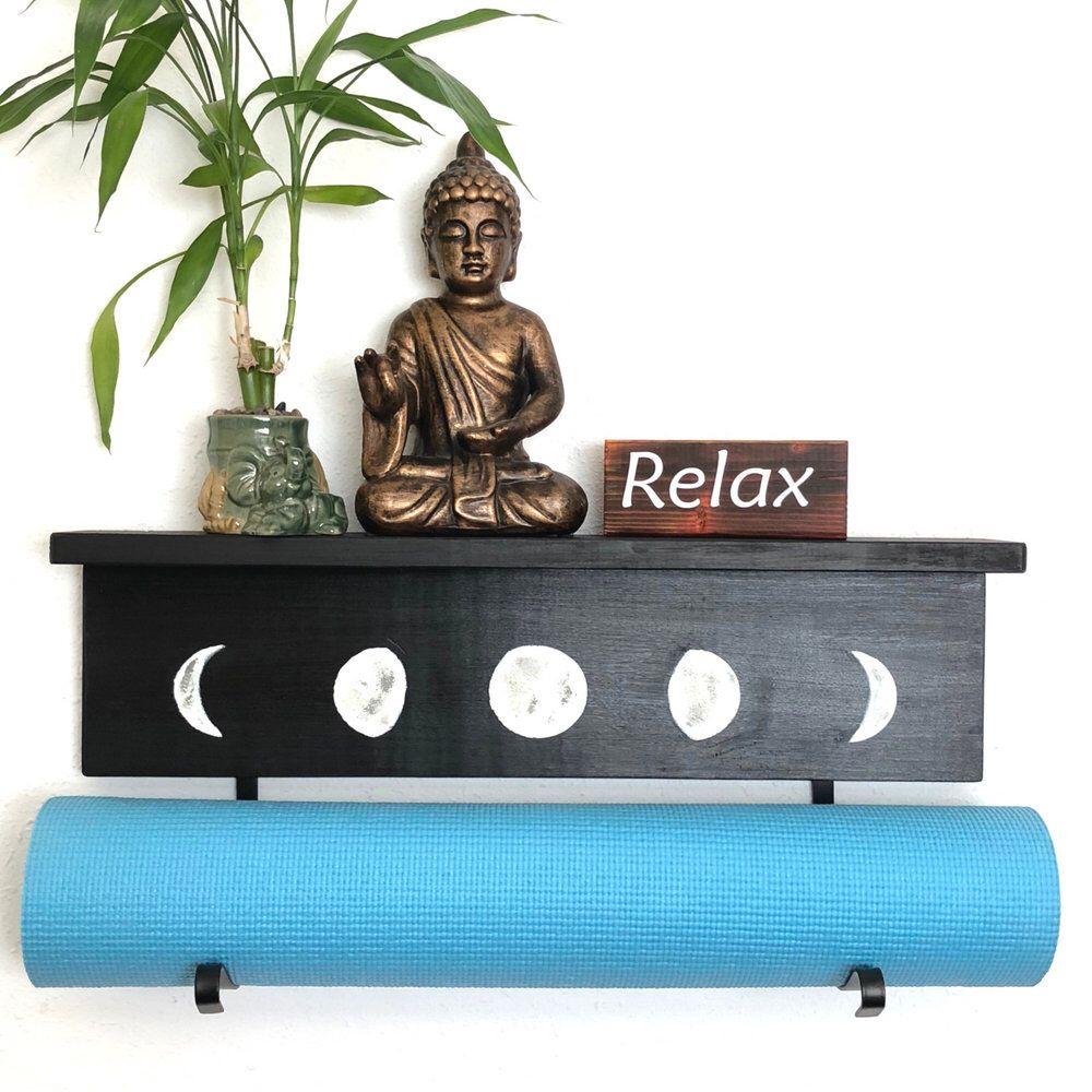 Our Moonphase Yogamat Holder Is Now Available Moonphaseyoga Yogagifts Floridayoga Oregonyoga Sfyoga Yoga Yoga Mat Holder Yoga Decor Yoga Mats Best