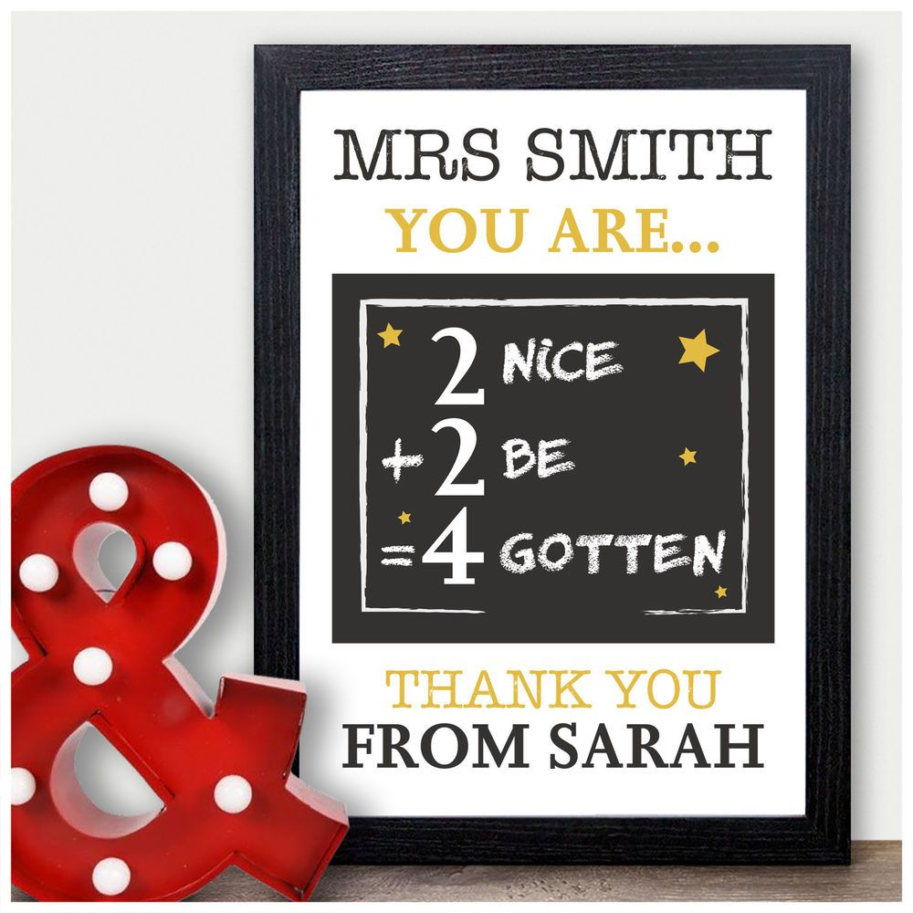 Details About Maths Teacher Thank You Gifts Personalised Gifts For