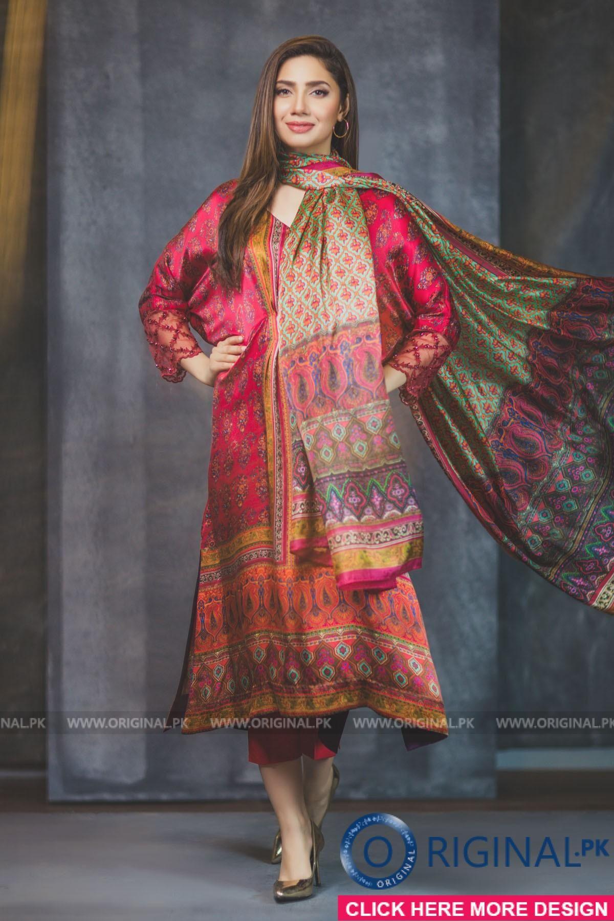 696585e9da Al Karam FC-04-17-DIGITAL PRINT Sephora, Pakistan. Model Mahira Khan ...