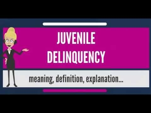 (5) What is JUVENILE DELINQUENCY? What does JUVENILE DELINQUENCY mean? JUVENILE DELINQUENCY meaning - YouTube