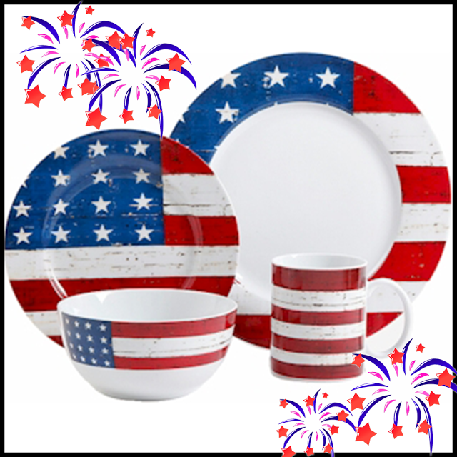 Trees n Trends blog - 4th of July Americana dinnerware  sc 1 st  Pinterest & Trees n Trends blog - 4th of July Americana dinnerware | Trees n ...