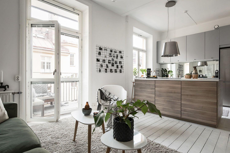 arredare cucina e soggiorno in un unico ambiente è possibile, senza rinunciare al comfort e all'eleganza! Modern Open Space With An Incredible Grey Kitchen And A Cozy Living Room Idee Per La Casa Arredamento Casa Arredamento