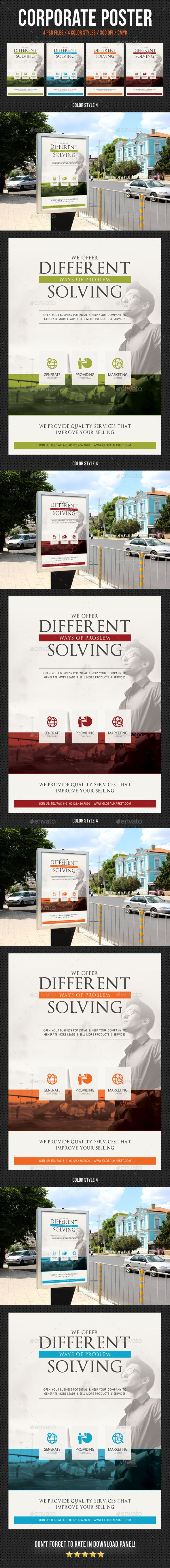 Corporate business poster template v10 business poster business corporate business poster template v10 by rapidgraf create bold posters ads promotions or presentations with these psd templates to give your business friedricerecipe Choice Image