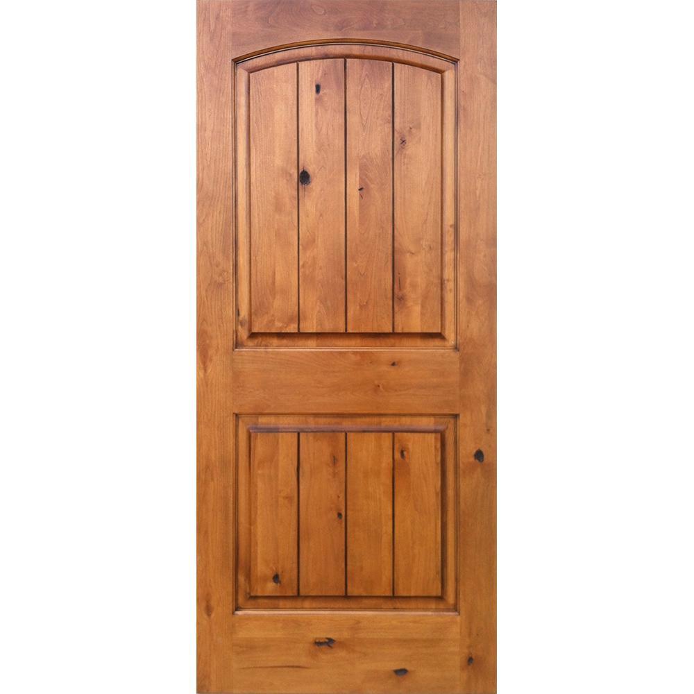 Exterior Home Design Software: Krosswood Doors 28 In. X 80 In. Knotty Alder 2-Panel Top