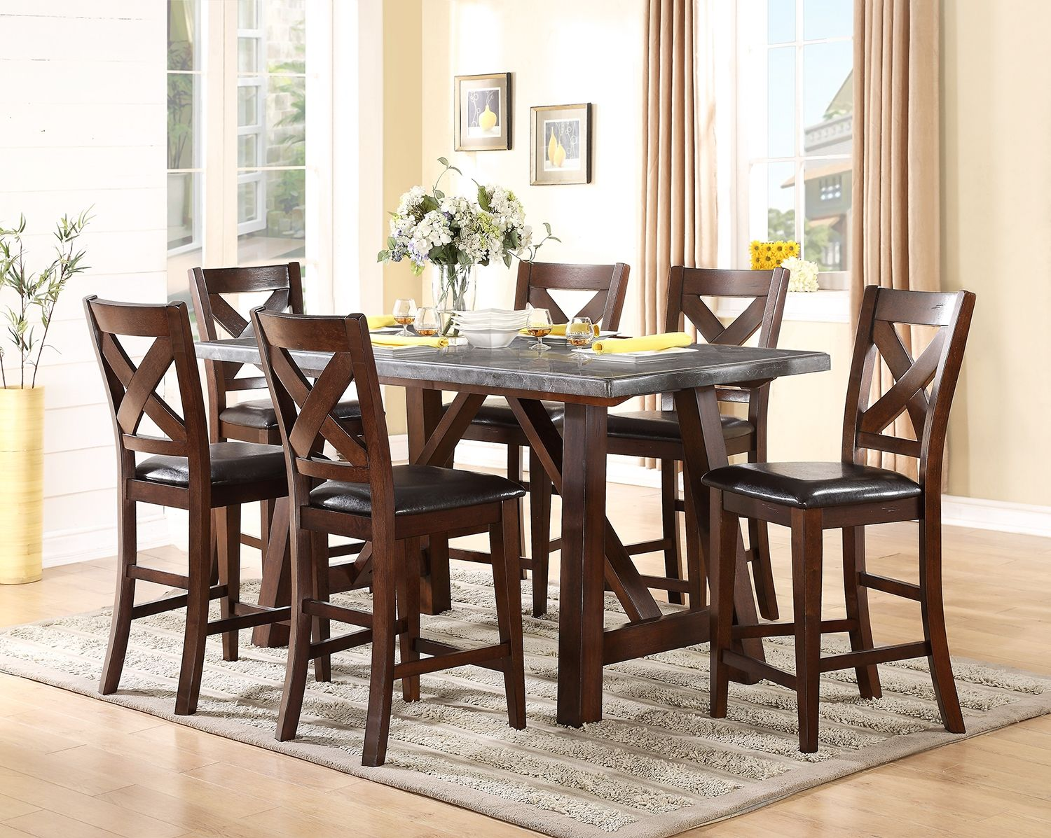 Adara Counter Height Dining Chair  Dining Chairs Accent Pieces Custom Dining Room Accent Pieces Inspiration