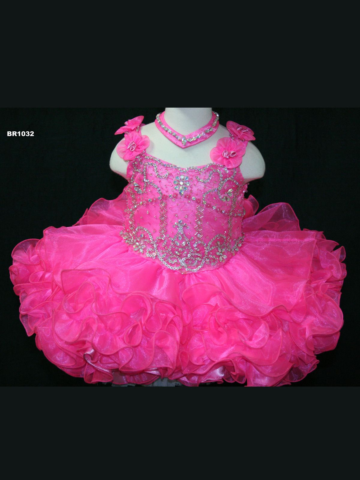 Tank style short pageant dresses