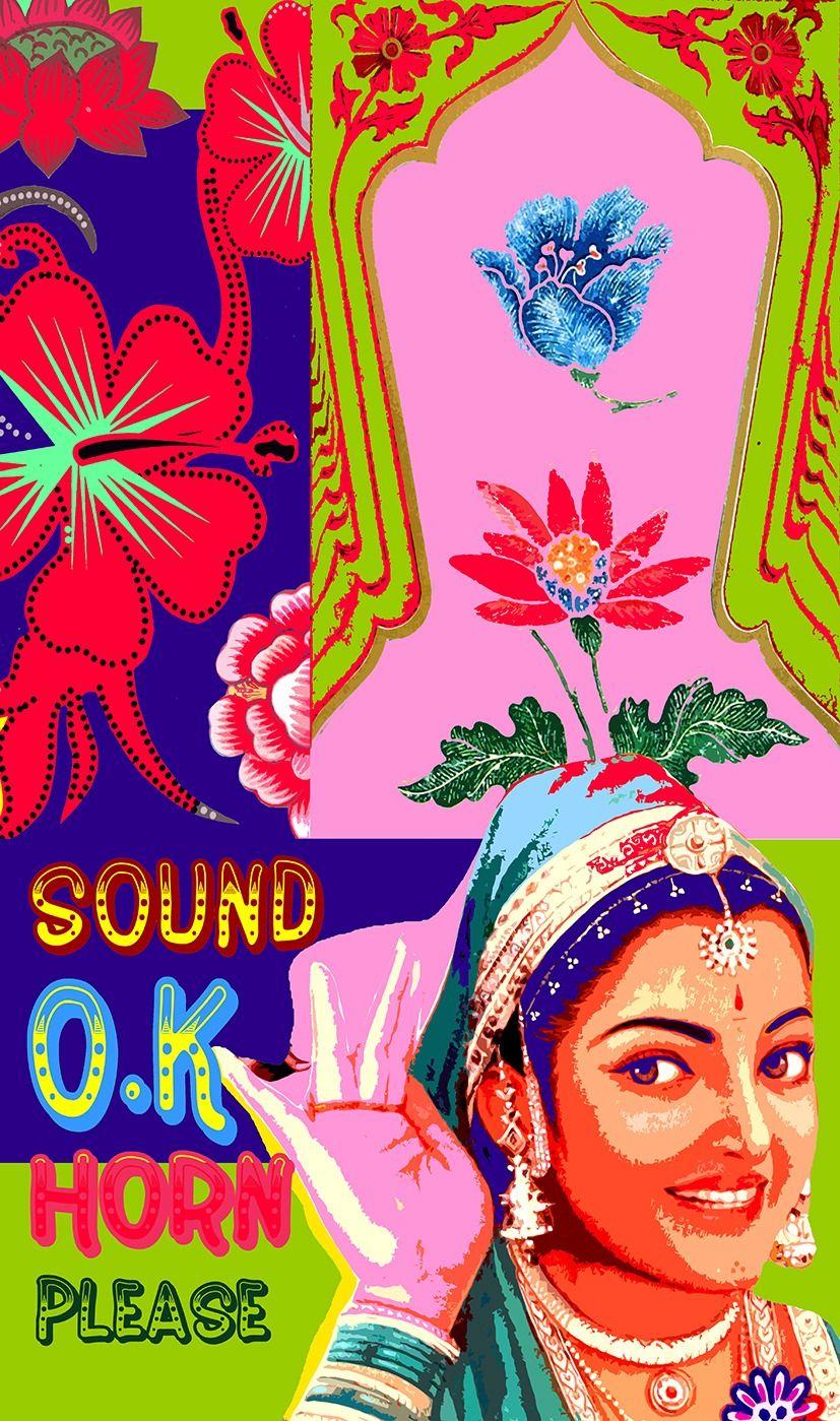 Sound Ok Horn Please Art Indian Illustration Pop Art