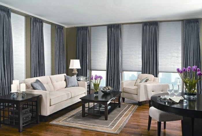rideaux modernes salon donnez un ct cocon la pice - Rideaux De Salon Moderne