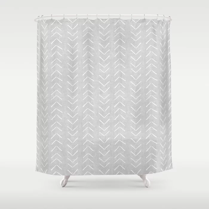 Buy Mudcloth Big Arrows In Grey Shower Curtain By Beckybailey1