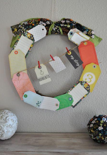 DIY Paper Tag Wreath - Craft-O-Maniac