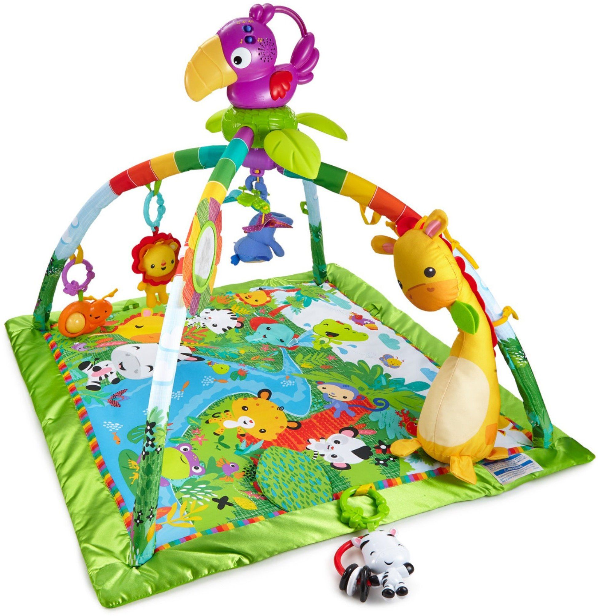 Fisher Price Music And Lights Deluxe Gym Rainforest Deluxe Newborn Gym With 10 Toys And Activities And A Fisher Price Baby Activity Center Rainforest Music