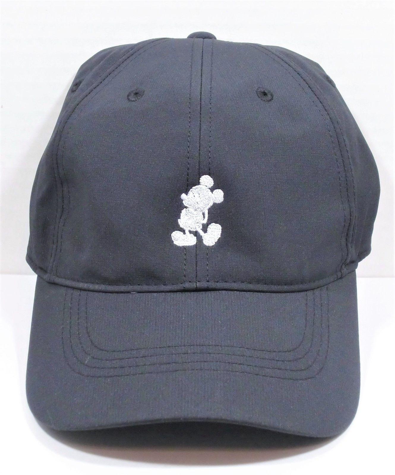 e60b034f09a0e Disney Parks Exclusive Mickey Mouse Black Nike Dri Fit Baseball Golf Cap  Hat NEW