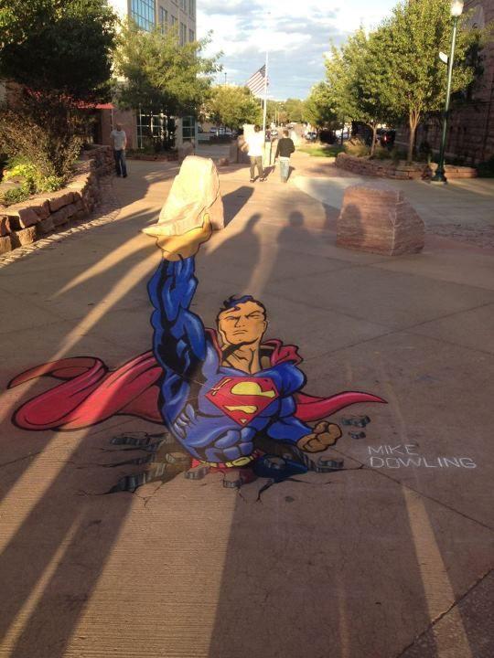Amazing Chalk Art  (artist: Mike Dowling)