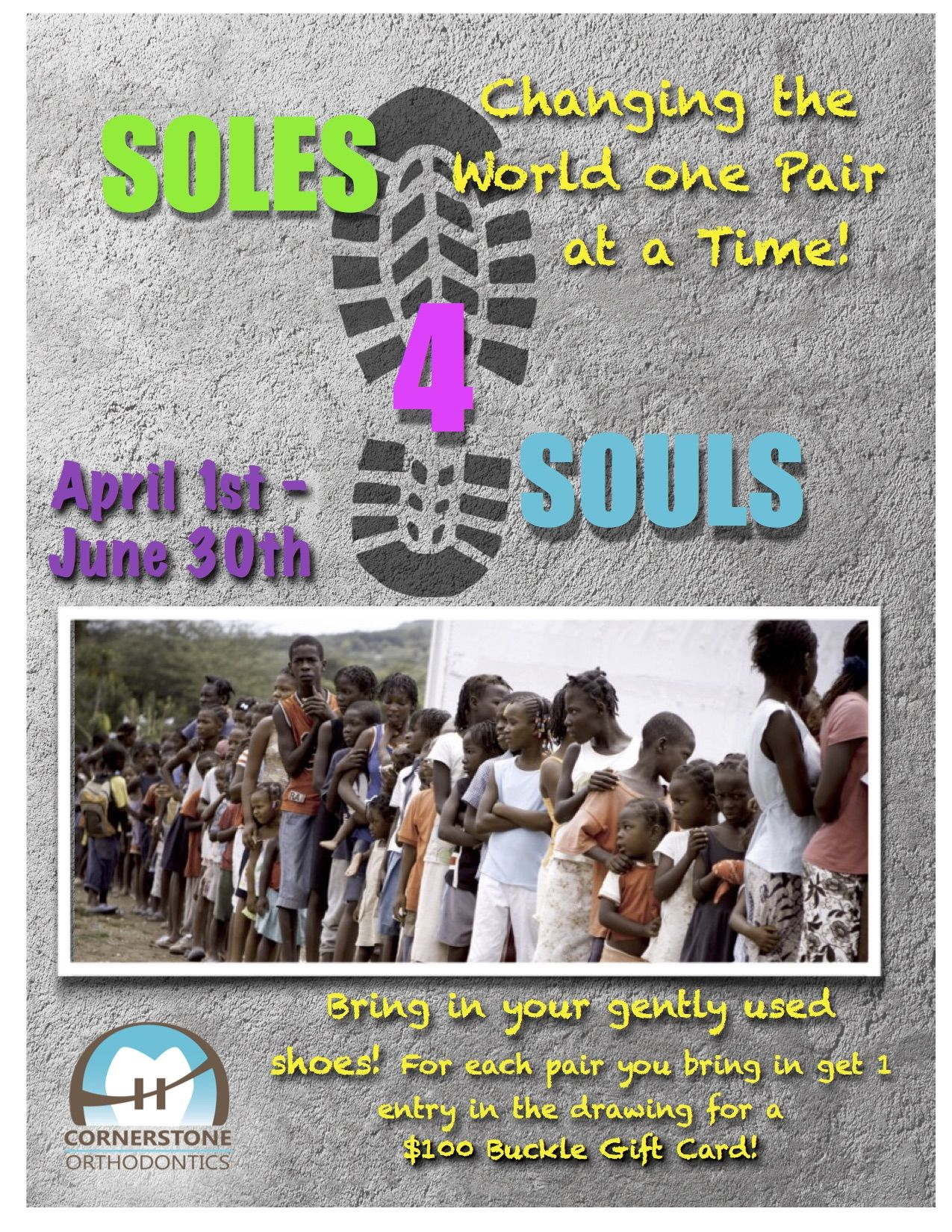 Help benefit a great cause! You all have shoes in your closet you never wear. Help put Soles on Souls!