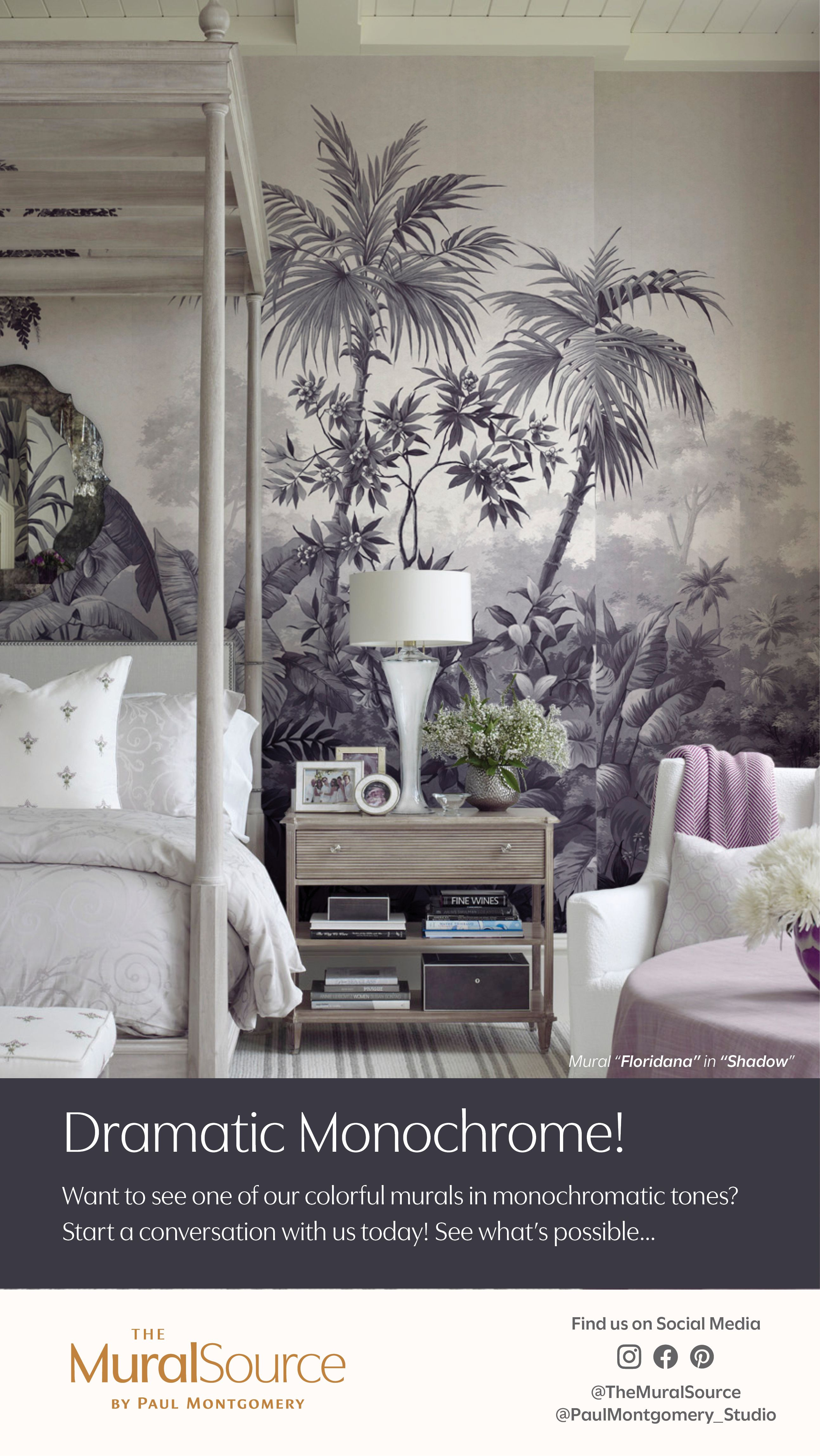 Floridana Americana Worldviews Wallpaper Muralsources Com Colorful Murals Mural Wallpaper Chinoiserie Mural