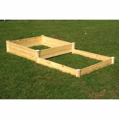 Riverstone Eden Quick Assembly Raised Garden Bed 4 Ft X 8 Ft X 5 1 2 In To 11 In Tractor Supply Co Raised Garden Garden Beds Raised Garden Planters