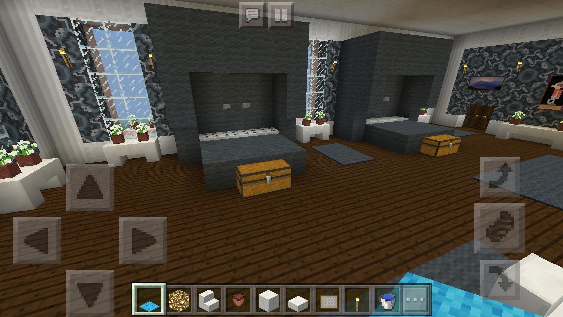 Colonial Christmas House Kids' Bedroom #minecraft # ... |Minecraft Mansion Inside Bedroom
