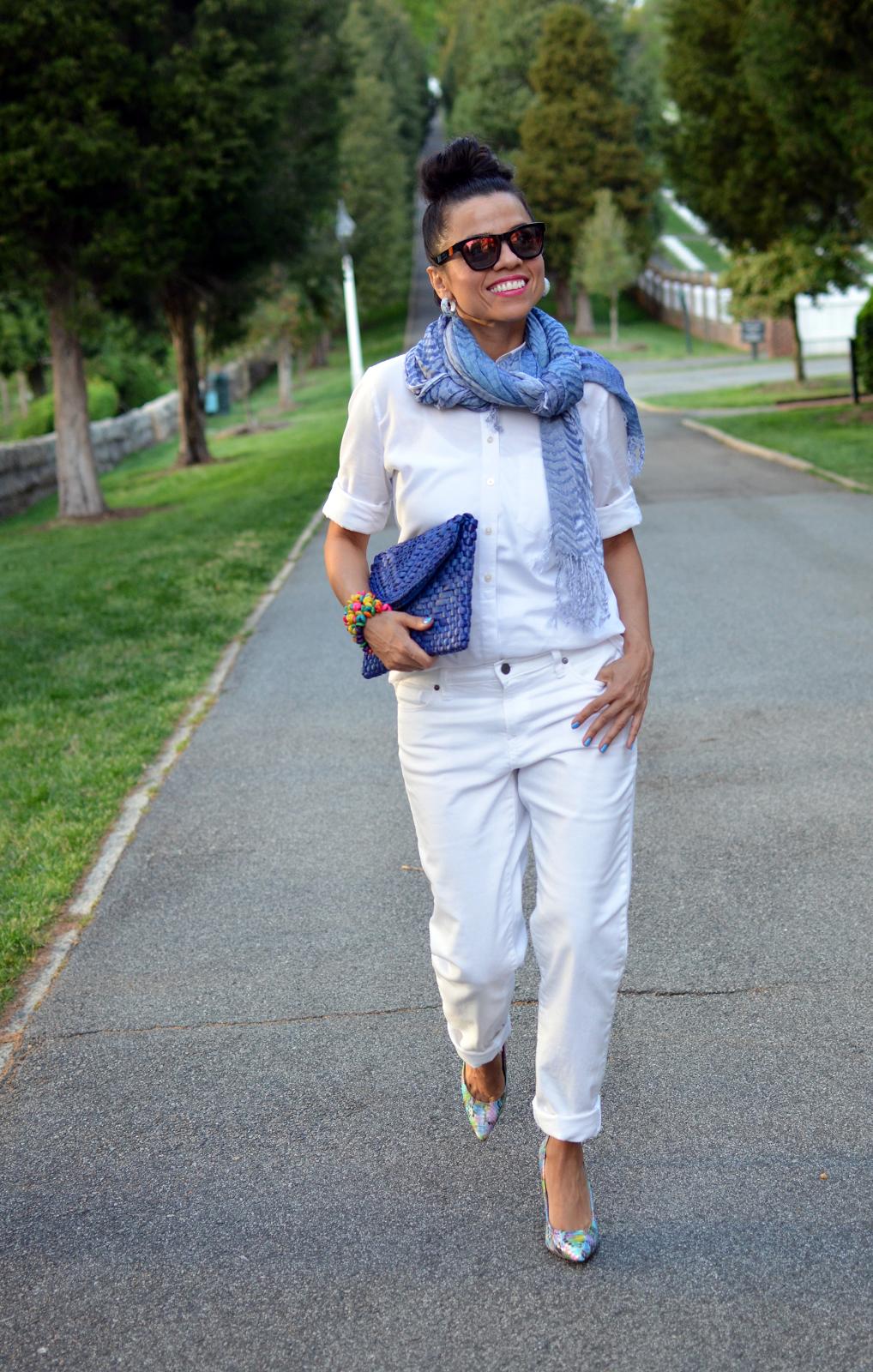 White Denim Boyfriend Jeans - Xtellar Jeans