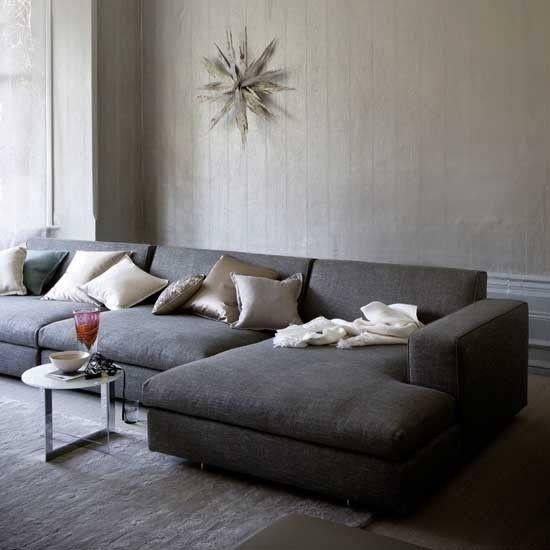 Grau Wohnzimmer Wohnideen Living Ideas Interiors Decoration Sofa - wohnideen wohnzimmer grau
