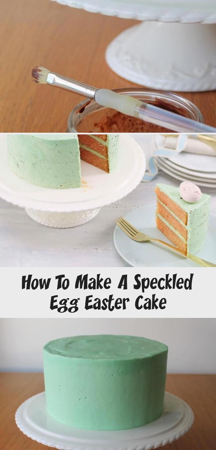 Photo of How to Make a Speckled egg Easter Cake #Easter #Baking #PinataKuchenSchoko #Pina…