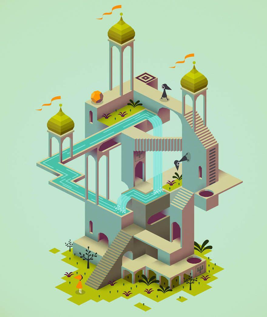 Character Design Ipad App : Monument valley ipad app by ustwo studios art inspiration