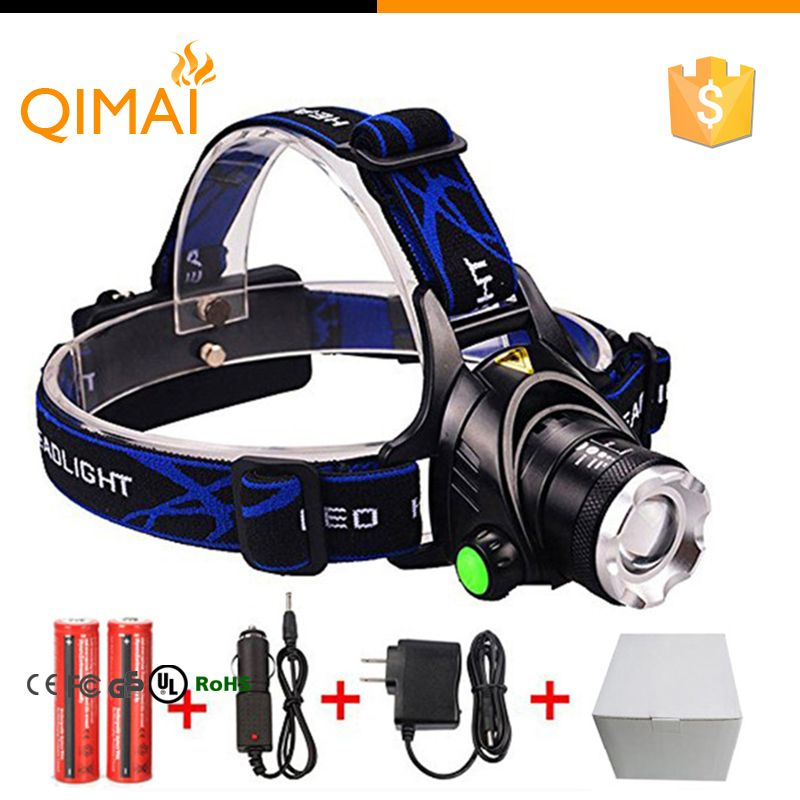 3000Lm T6+COB LED Zoom Rechargeable Headlamp Headlight Flashlight Lamp 18650 NEW