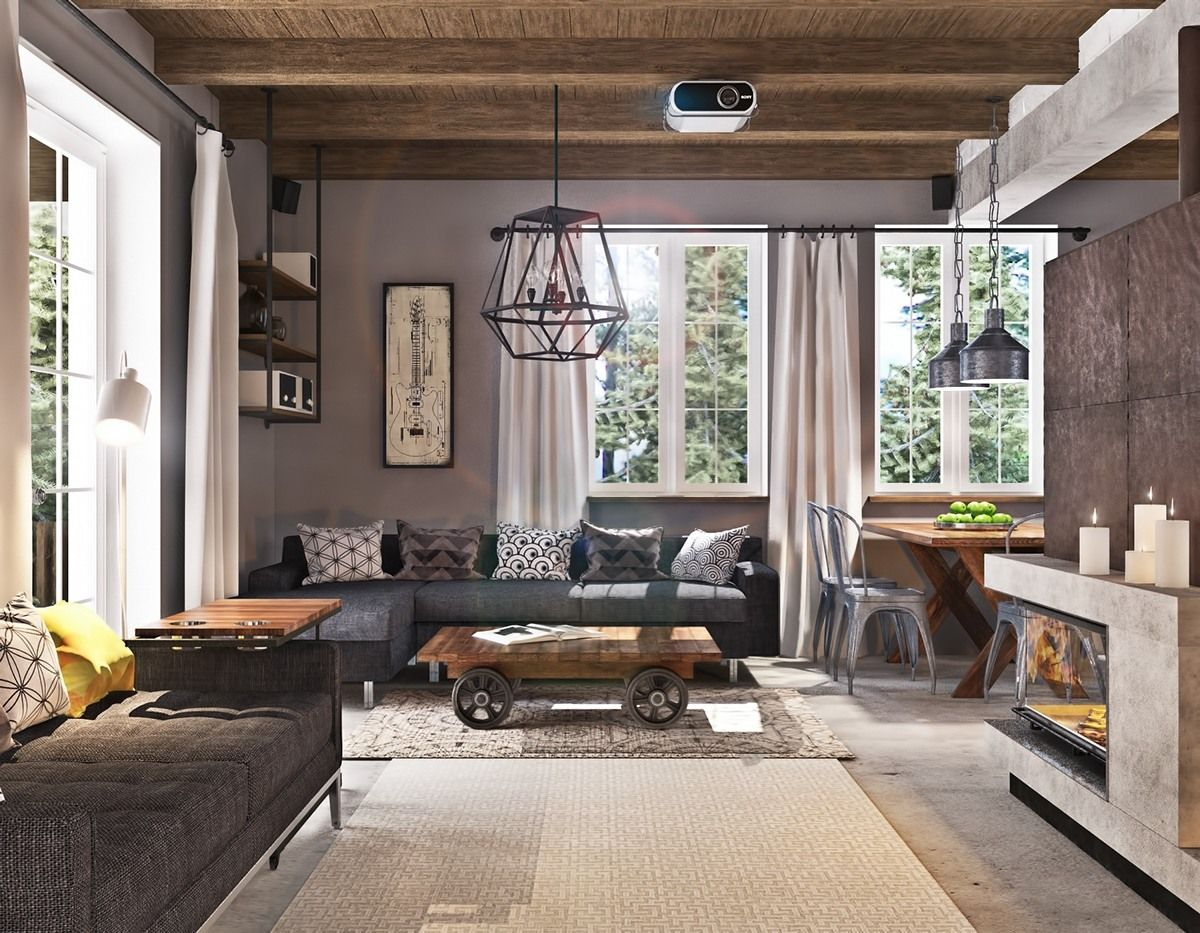 16 Splendid Rustic Living Room Ideas For A Warm And Cozy ...