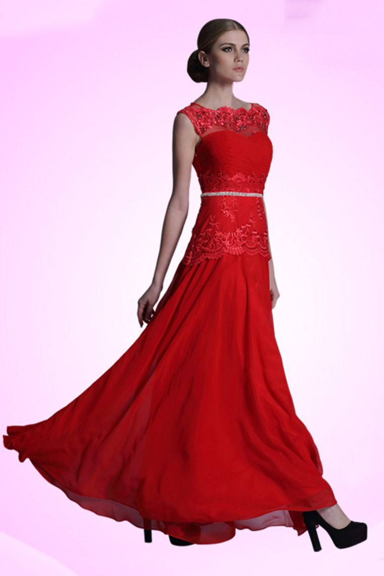 prom dress elegant color red ship in hours prom