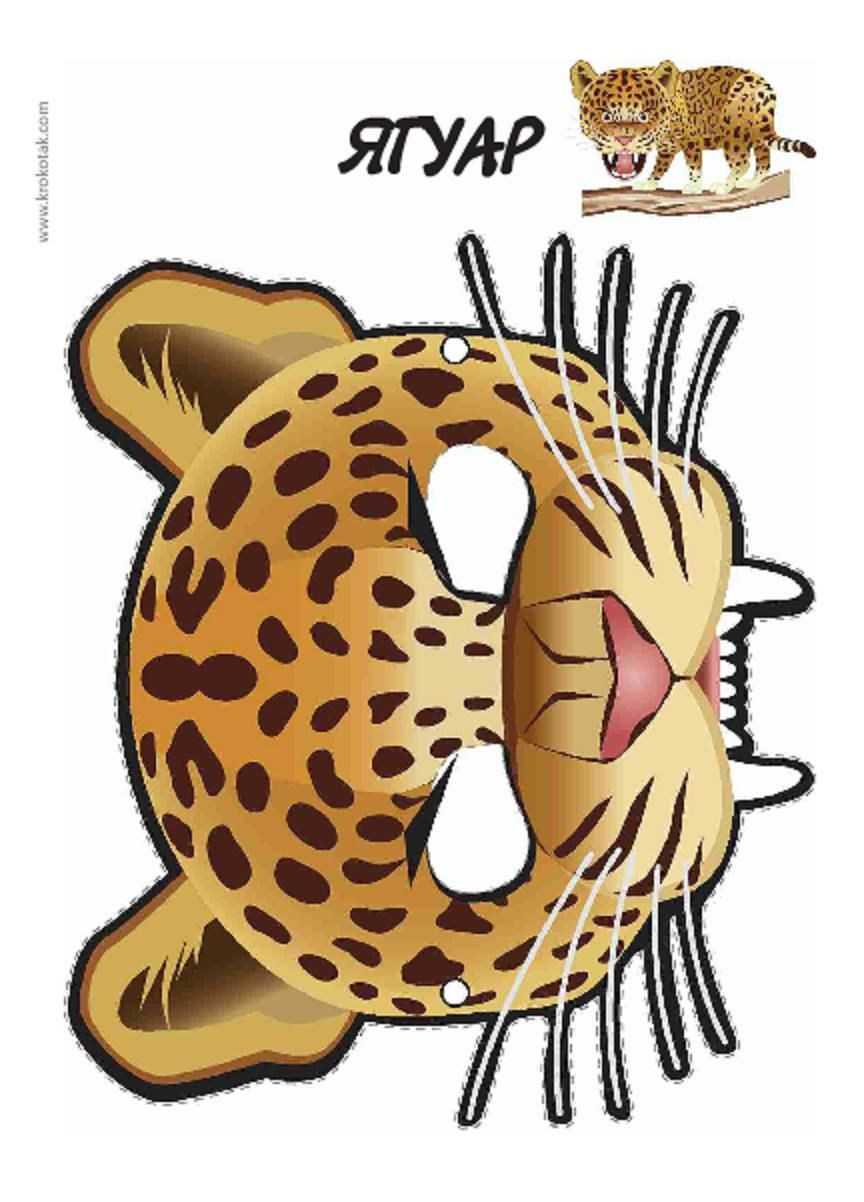 cheetah face mask template - printable leopard mask printable masks for kids
