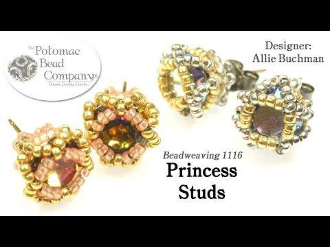 Princess Studs Earrings Diy Tutorial Youtube Supplies From