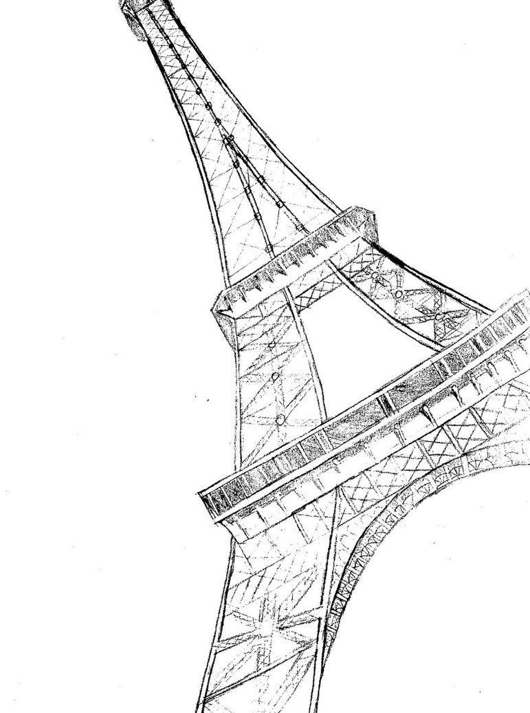 eiffel tower sketch by
