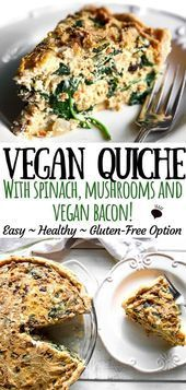 Photo of This easy vegan quiche recipe is seriously the best quiche you will ever taste!…