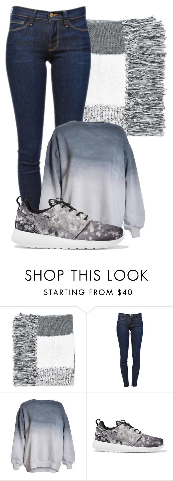 """#178"" by jesuisleclown ❤ liked on Polyvore featuring Topshop, Frame Denim, NIKE, women's clothing, women, female, woman, misses and juniors"
