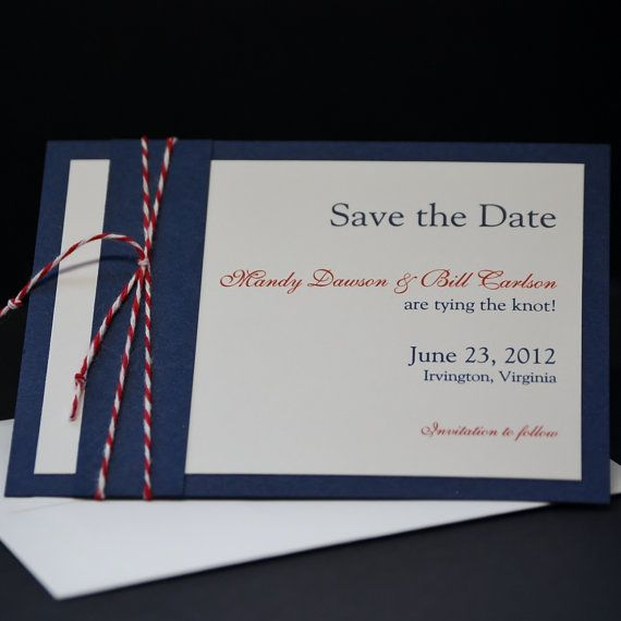 nautical navy save the date card sample wedding pinterest