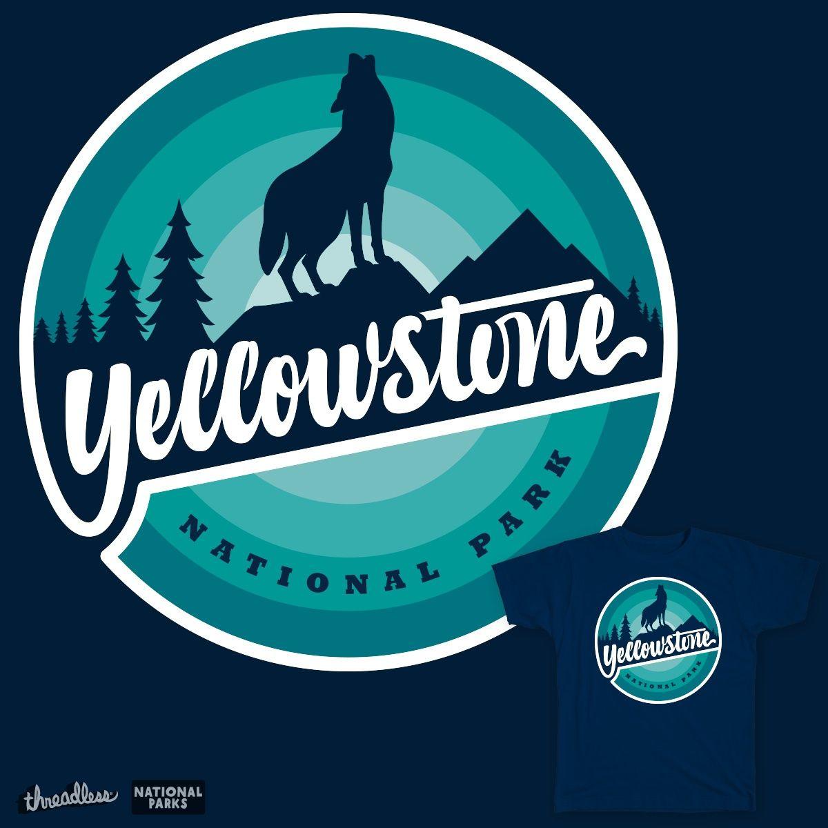 Yellowstone Wolf on Threadless Logo illustration design