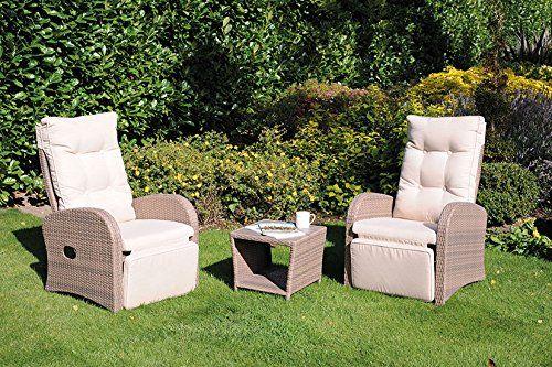 Pacific 3 Piece Dining Set Rattan Garden Furniture Set Table Outdoor