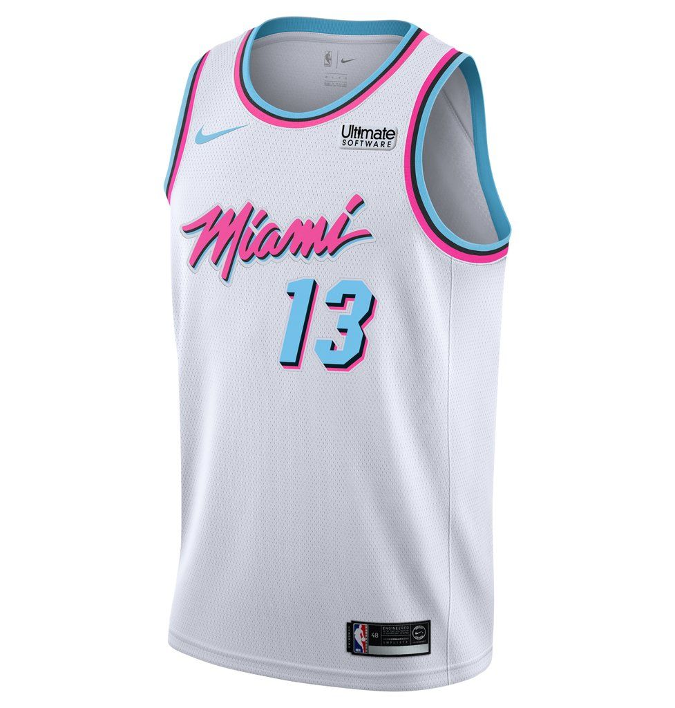 pretty nice fb1ac 88c0e Bam Adebayo Nike Miami HEAT Vice Uniform City Edition ...