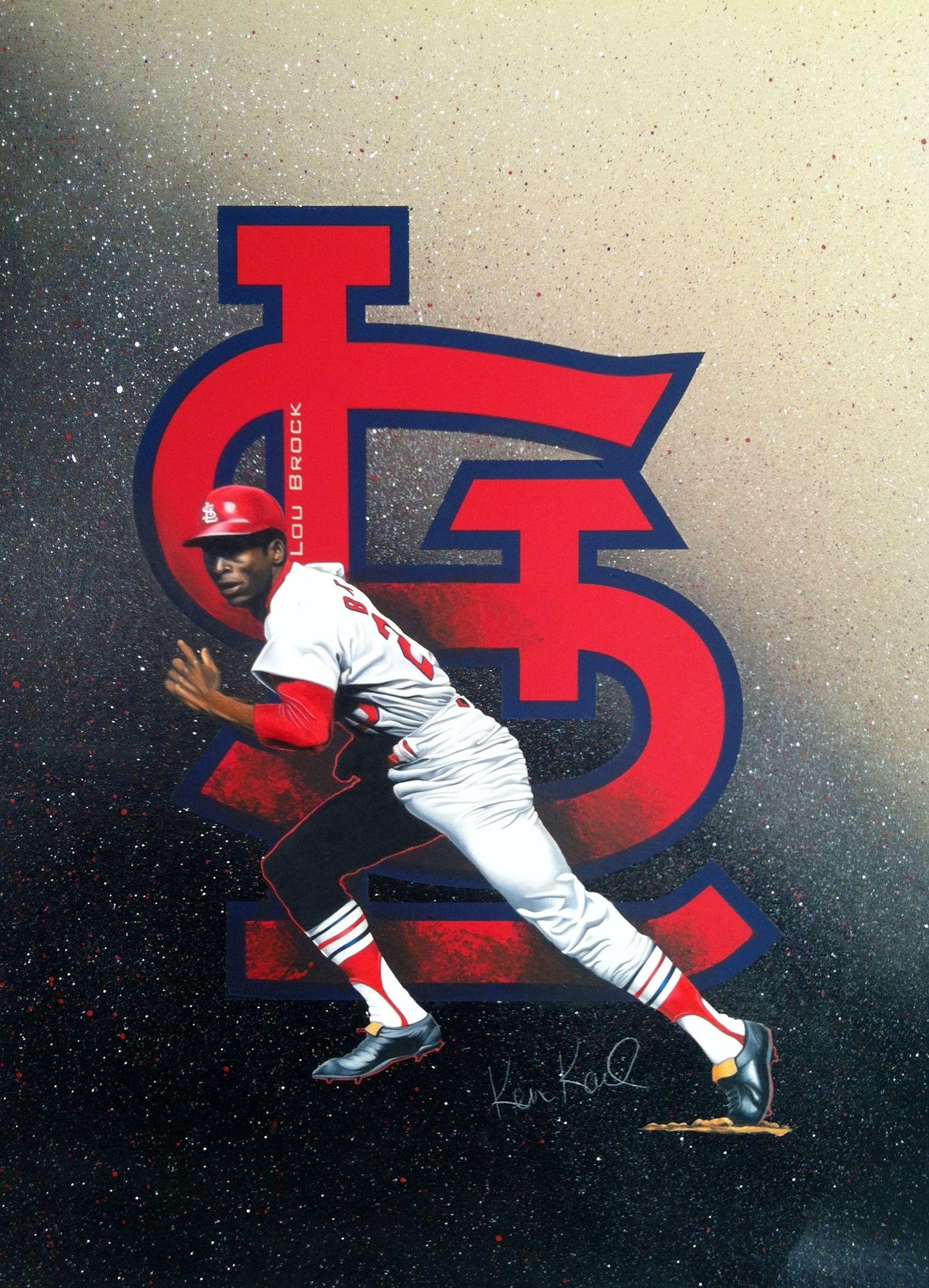 Lou brock drawing st louis cardinals baseball stl cardinals mlb nationals major league