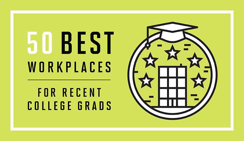 50 BEST WORKPLACES FOR NEW COLLEGE GRADS. These great employers are adding jobs and hiring the newest class of talent.