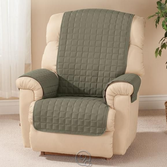 Microfiber Recliner Protector By Oakridge Comforts Chair Cover Olive Green Best Leather Sofa Leather Sofa Sofa Deals