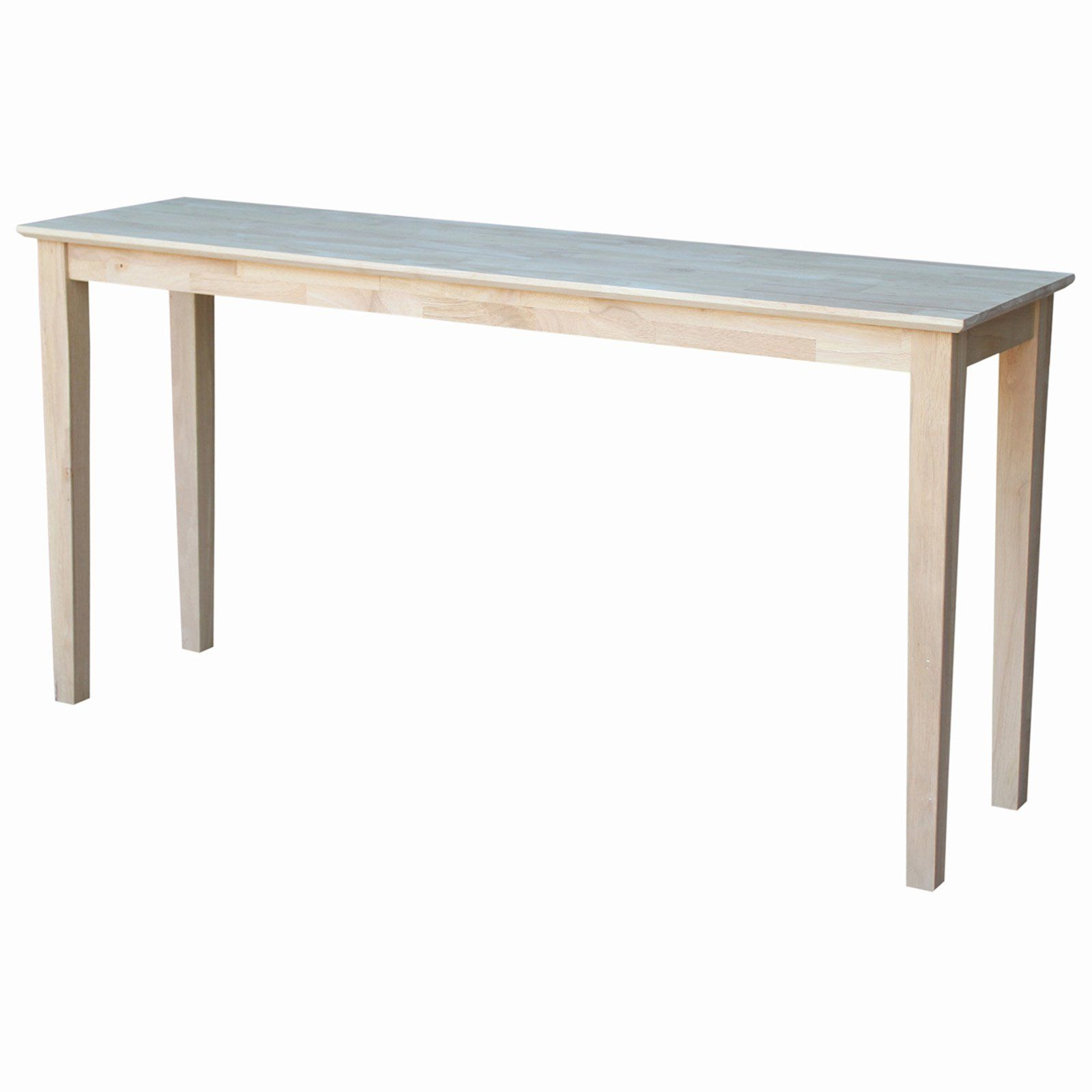 International Concepts Shaker Console Table Sofa End Tables