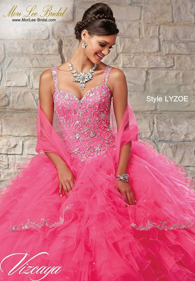 Style LYZOE EMBROIDERED AND BEADED BODICE ON A RUFFLED TULLE SKIRT ...